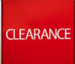 CLEARANCE - Starts October 1st